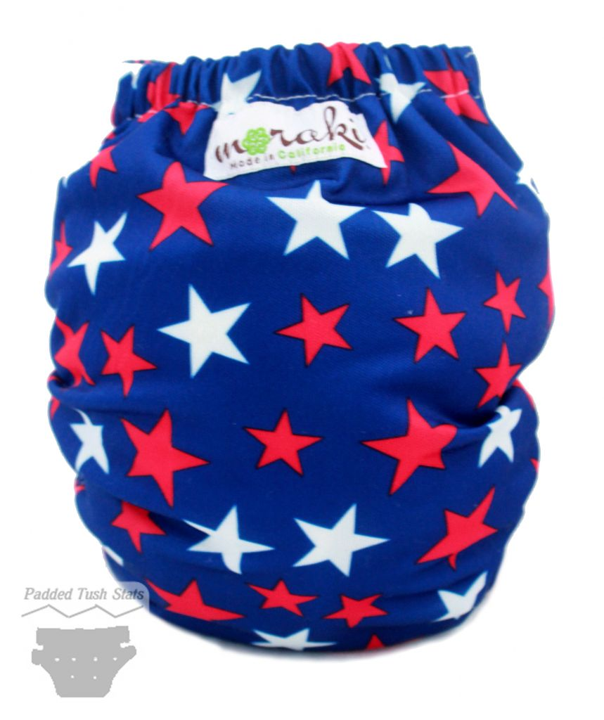 Moraki Pocket Cloth Diaper - Back View