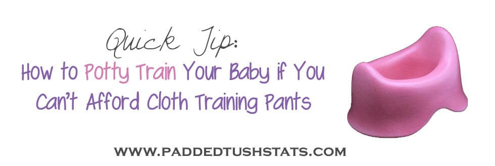 How to potty train if you can't afford training pants